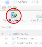 create a New Bookmark in Firefox