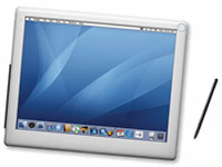 an image of an artists impression of a possible Apple Mac Tablet