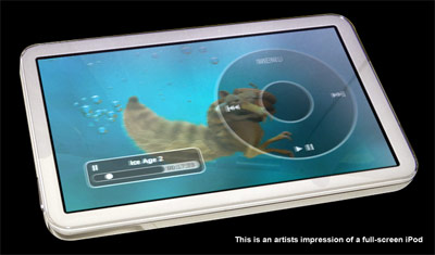 this is an artists impression of a full-screen iPod