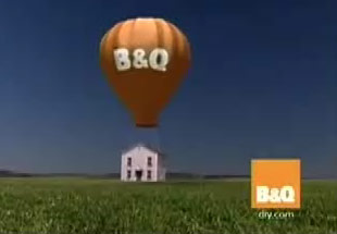 a screen shot of the new B&Q advert on British television