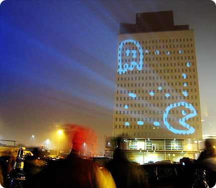 laser ligth 'building graffiti'