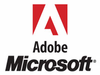 an image of the Adobe and Microsoft logos