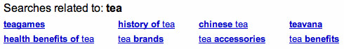 searches related to the phrase: 'tea'