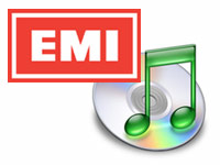 an image of the Apple iTunes software logo and the EMI logo