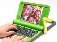 an image of the OLPC laptop computer