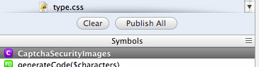 an image of the Coda Publish All files option