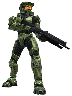 Master Chief from the video game Halo