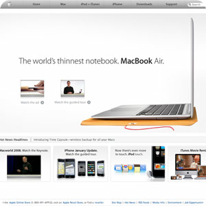 a preview of a Apple home page