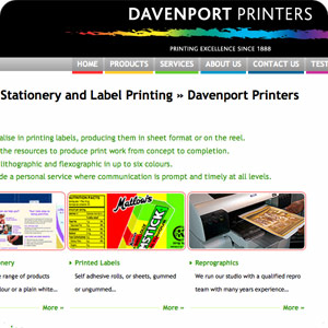 a preview of a J.H. Davevenport & Sons Limited home page